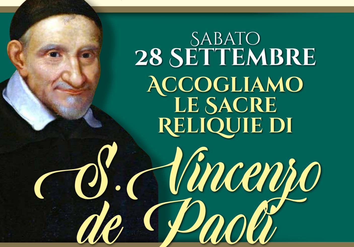 Arrivo delle Reliquie di San Vincenzo de Paoli